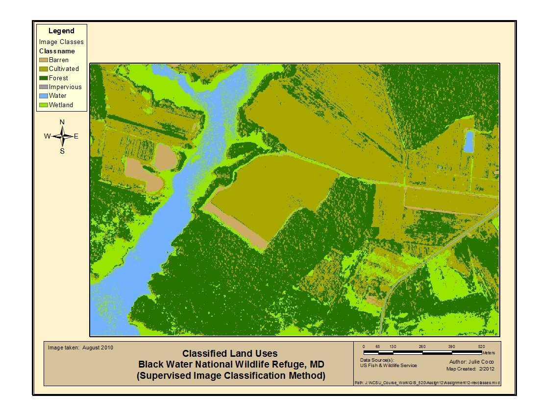 Image Classification - Land use classification map us